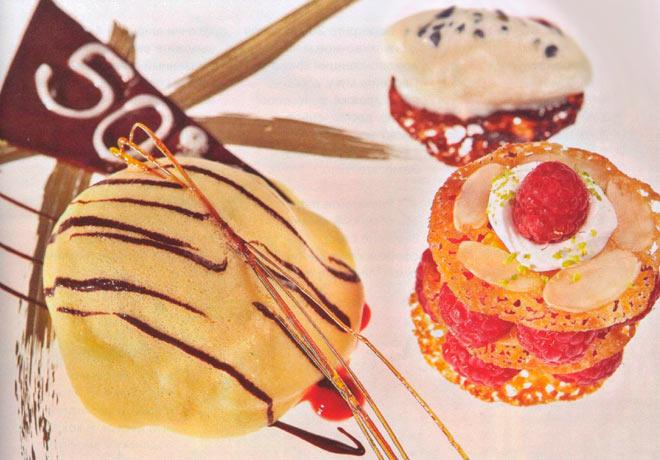 Рецепт Итальянский десерт фисташкового зукотто с малиной