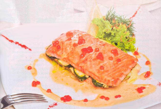 Рецепт Фаршированный лосось запеченный в духовке