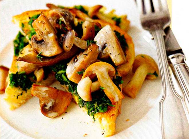 Рецепт Тосты с грибами