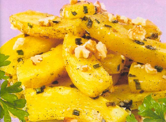 Рецепт Кабачки запеченные в духовке с орехами