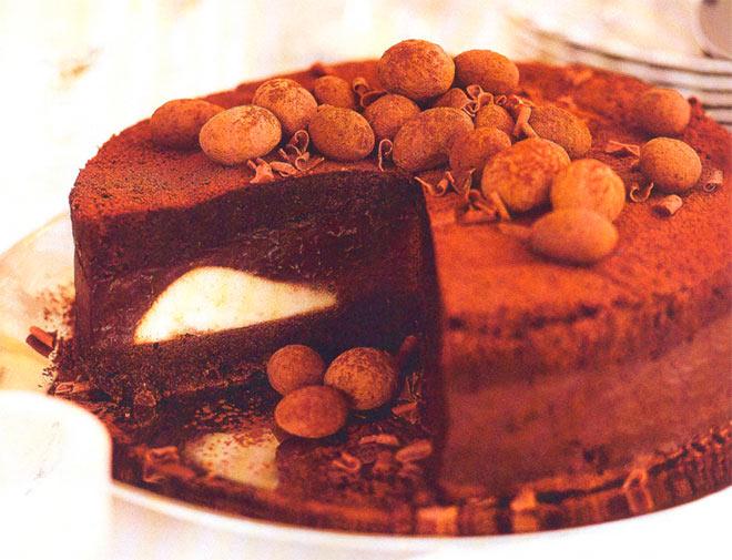Рецепт Вкусный домашний бисквитный шоколадный торт