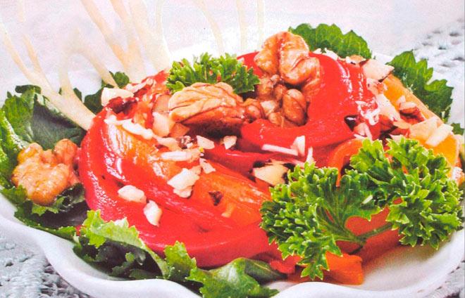 Рецепт Перец с чесноком и орехами
