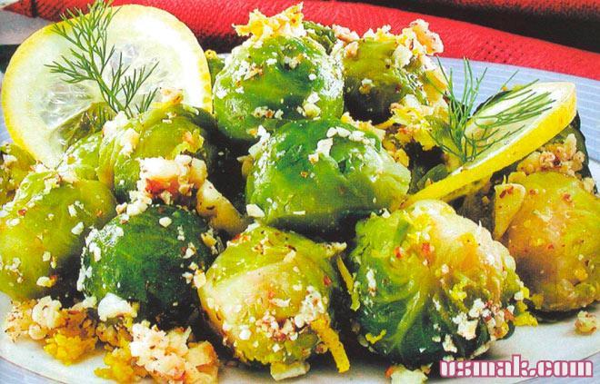 Рецепт Вкусная брюссельская капуста с орехами