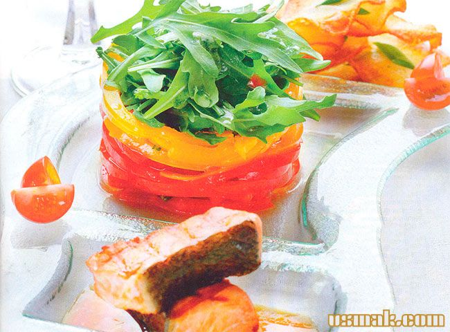 Рецепт Венгерский салат теплый с форелью или семгой
