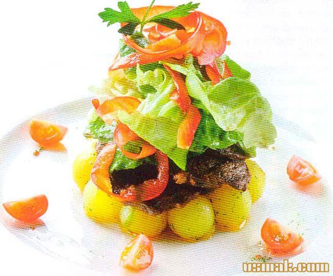 Рецепт Испанский теплый салат с говядиной