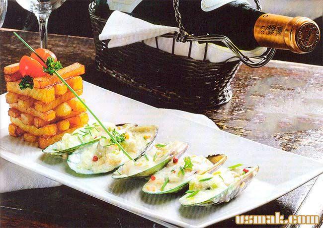 Рецепт Горячая закуска из мидий в сливочном соусе