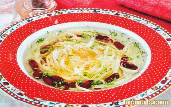 Рецепт Суп из красной фасоли с рисовой лапшой