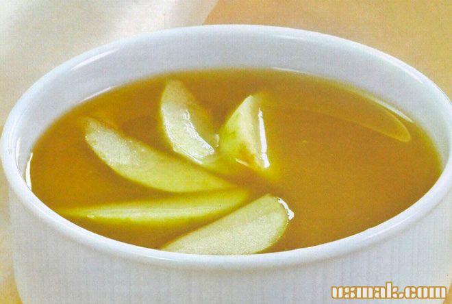 Рецепт Фруктовый суп абрикосовый с яблоками