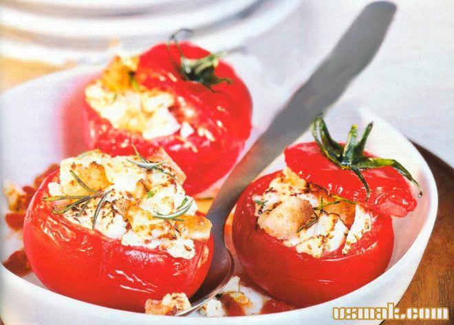 Рецепт Фаршированные помидоры запеченные в духовке с зеленью