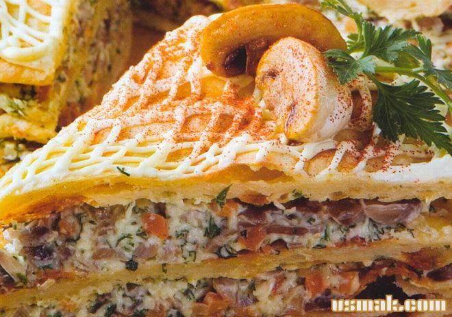Рецепт Слоеный куриный пирог с куриным фаршем