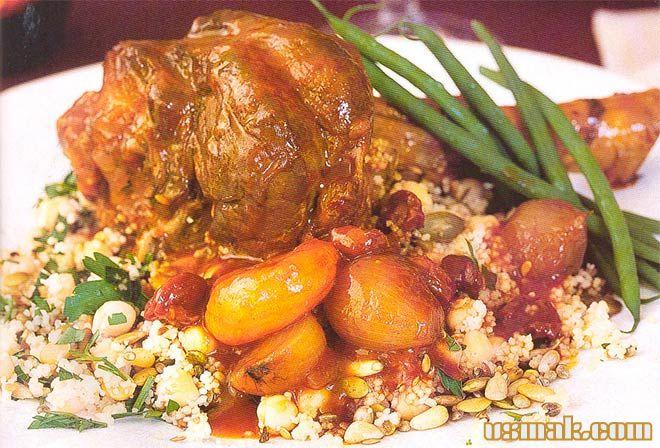 Рецепт Баранина запеченная в духовке в фольге с кускусом