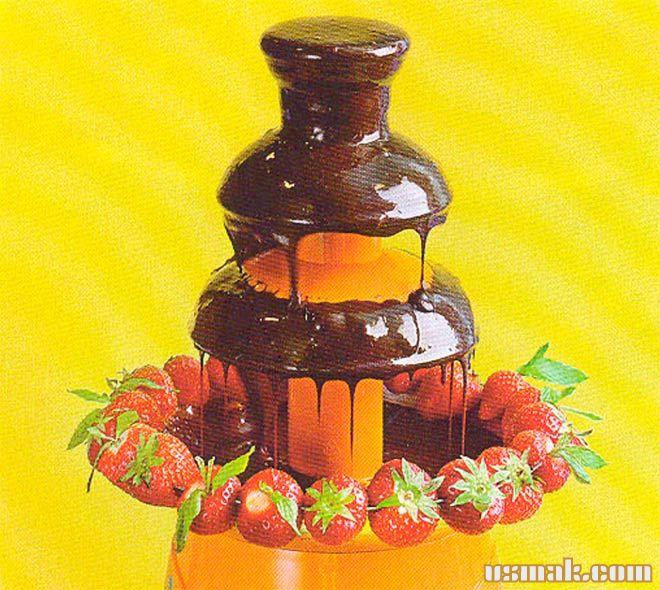 Рецепт Фондю шоколадное с шоколадным фонтаном