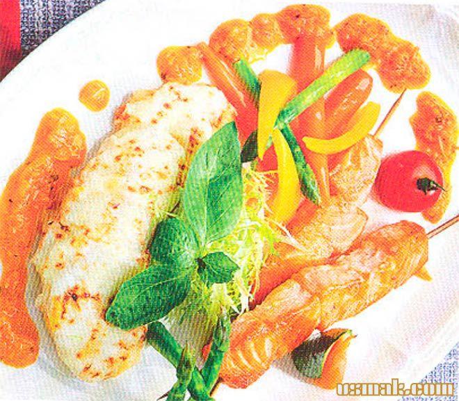Рецепт Вкусные шашлычки на шпажках и картофельный гратен