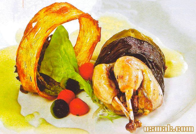 Рецепт Перепела в духовке с сырным соусом