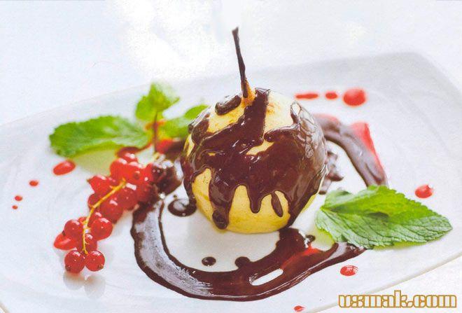 Рецепт Груша в шоколаде