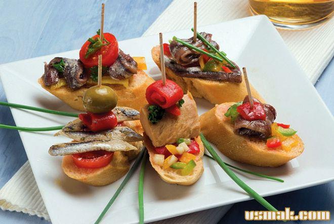 Рецепт Закуска испанский тапас