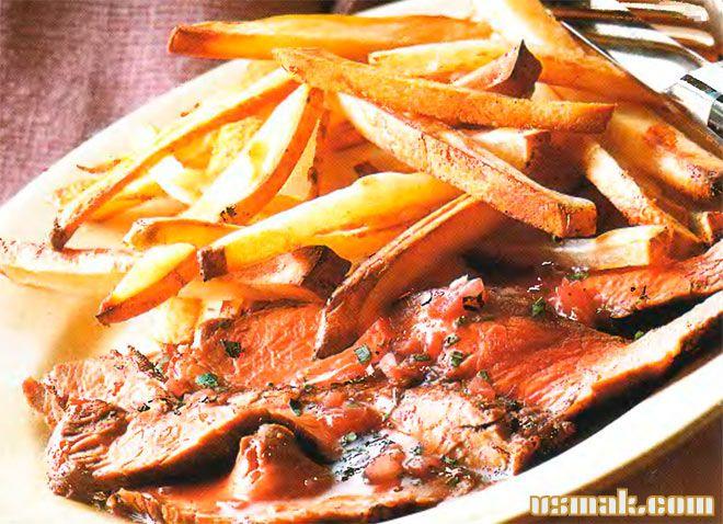 Рецепт Жареный стейк с картошкой