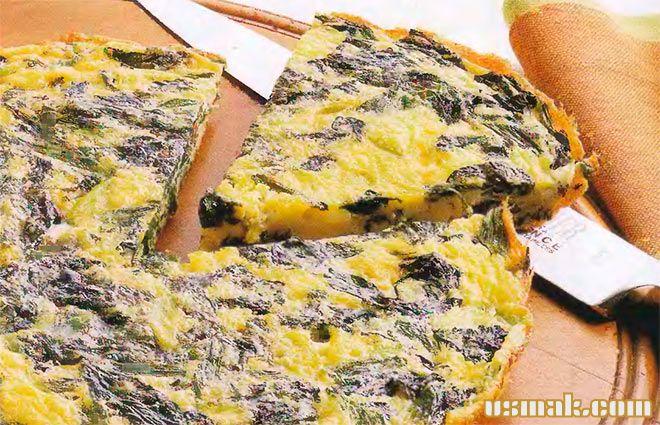 Рецепт Испанская тортилья с начинкой из шпината и сыра