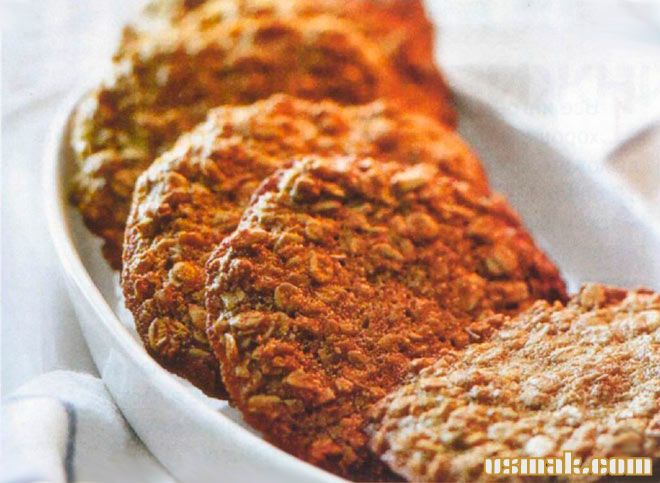 Рецепт Овсяное домашнее печенье