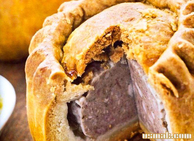 Рецепт Закрытый мясной пирог из фарша в духовке