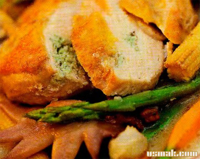 Рецепт Куриная грудка с сыром и зеленью