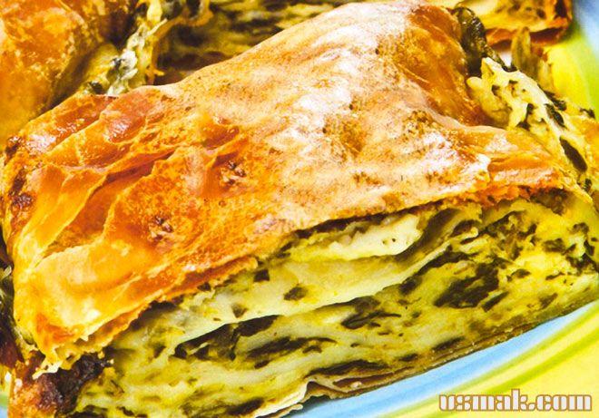 Рецепт Слоеный пирог с картошкой и сыром в духовке