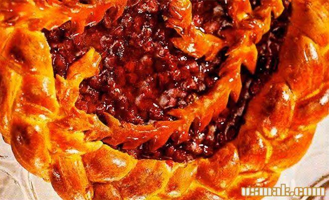 Рецепт Открытый дрожжевой пирог с брусникой