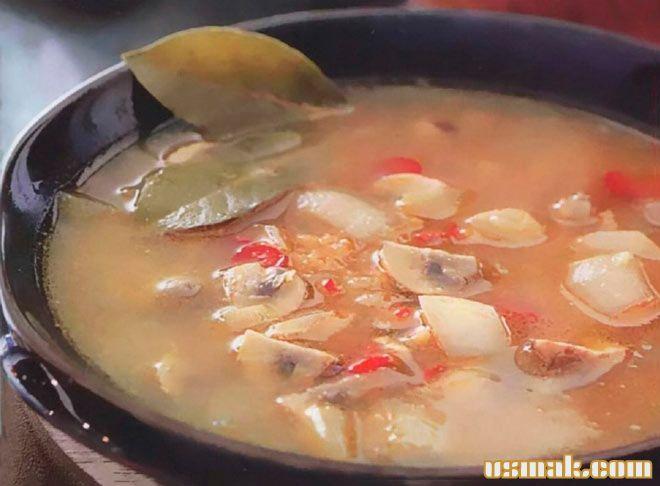Рецепт Суп из чечевицы с грибами