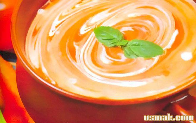 Рецепт Суп пюре из помидоров со сливками