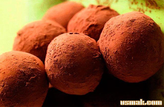Рецепт Конфеты шоколадные трюфели с орехами
