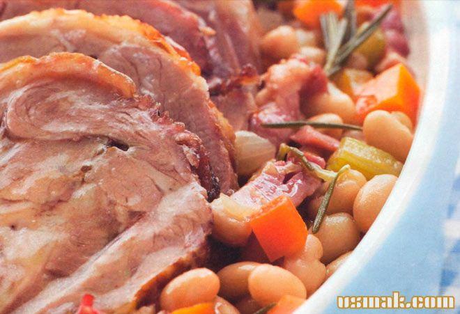 Рецепт Запеченная свинина в духовке с фасолью