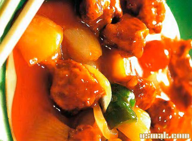 Рецепт Свинина в кисло сладком соусе