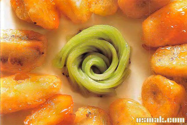 Рецепт Жареные фрукты в карамели