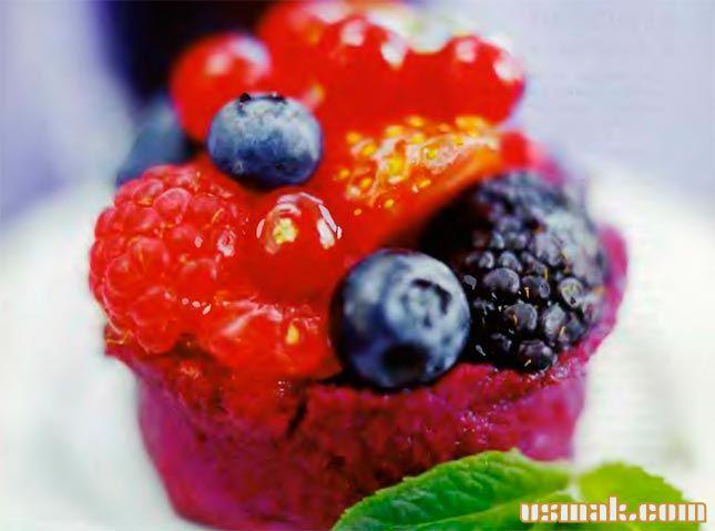Рецепт Малиновый мусс со сливками