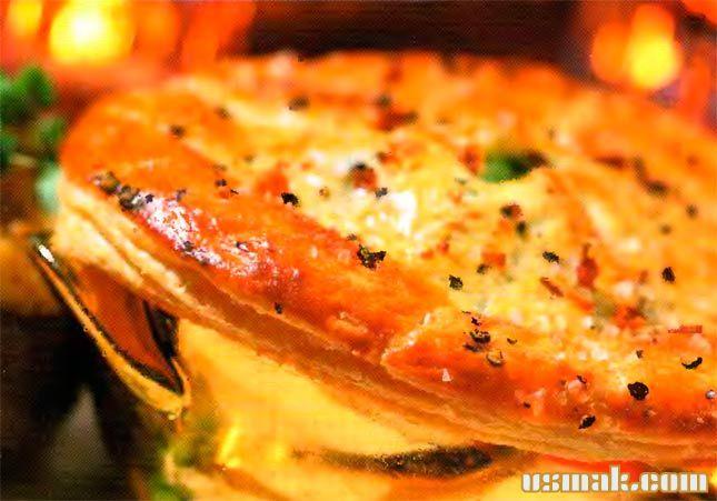 Рецепт Мясной пирог с говядиной из слоеного теста