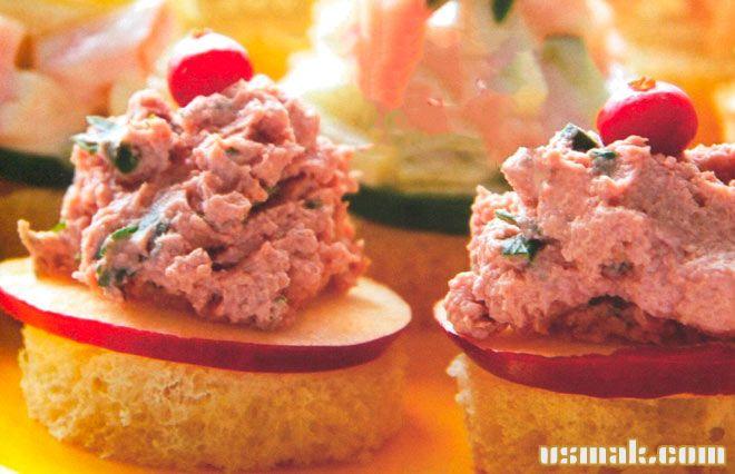 Рецепт Канапе на праздничный стол с тунцом