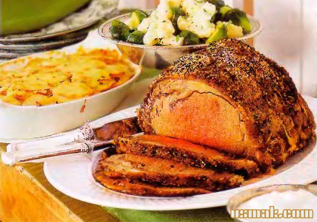 Рецепт Ростбиф из говядины с луковым соусом