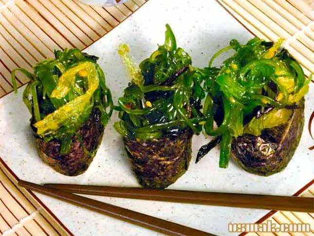 Рецепт Суши «Чука» с морскими водорослями