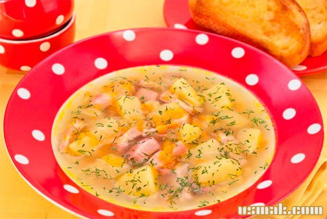 Рецепт Гороховой суп с копченостями