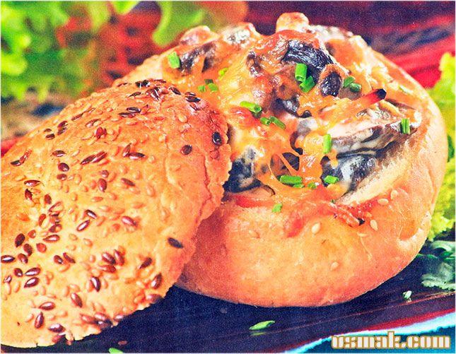 Рецепт Грибы шиитаке запеченным сыром