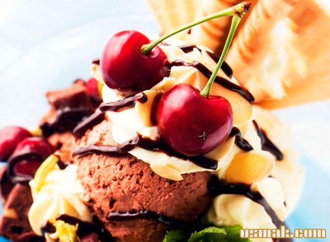 Рецепт Шоколадно ванильное мороженое