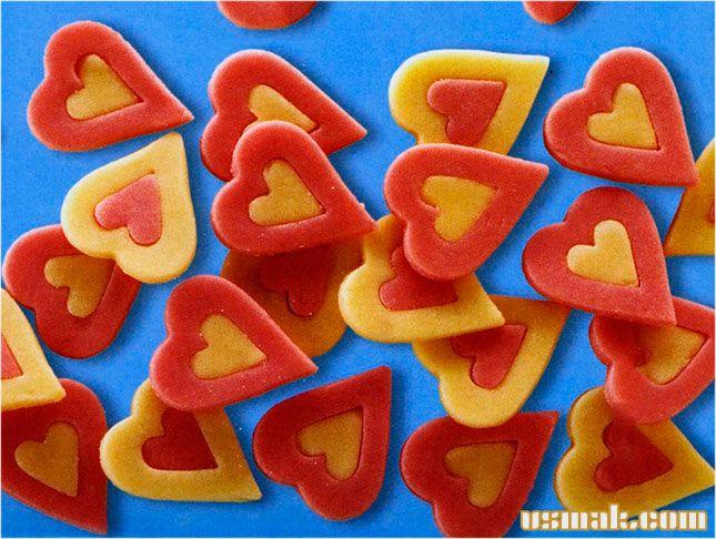 Рецепт Домашнее печенье сердечки в форме