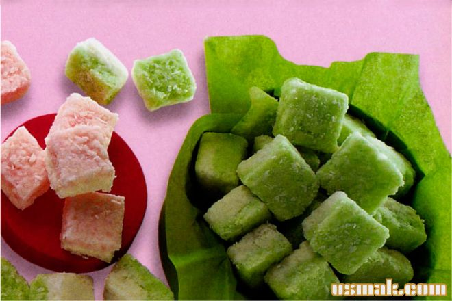 Рецепт Печенье кокосовые кубики