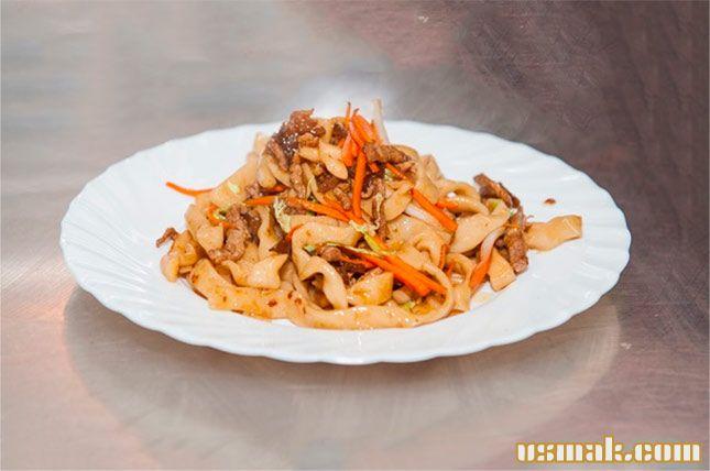 Рецепт Китайская лапша со свининой