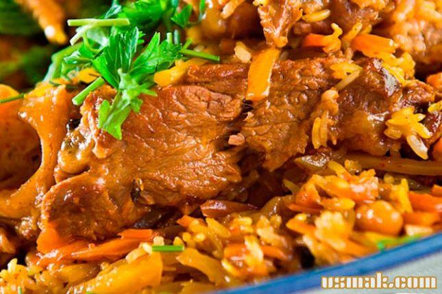 Рецепт Настоящий узбекский плов с бараниной