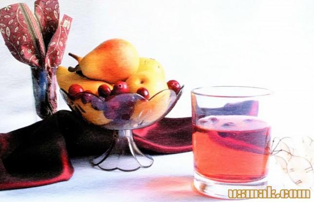 Рецепт Грушевый сок с клюквой