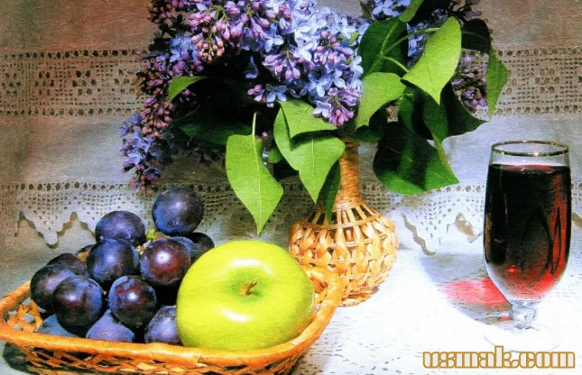 Рецепт Яблочно виноградный сок