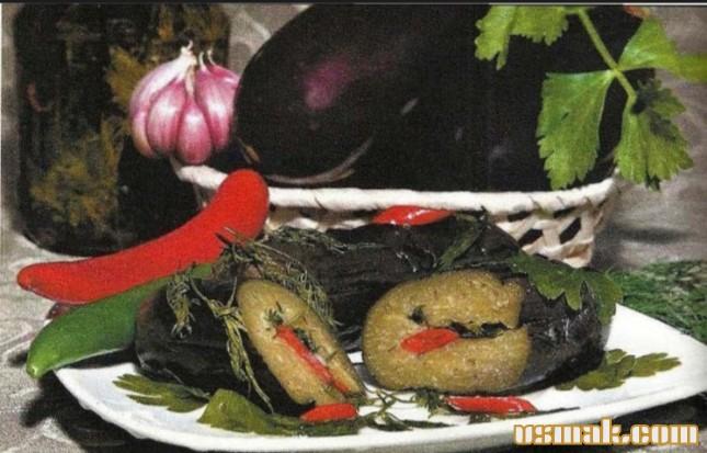 Рецепт Cоленые баклажаны