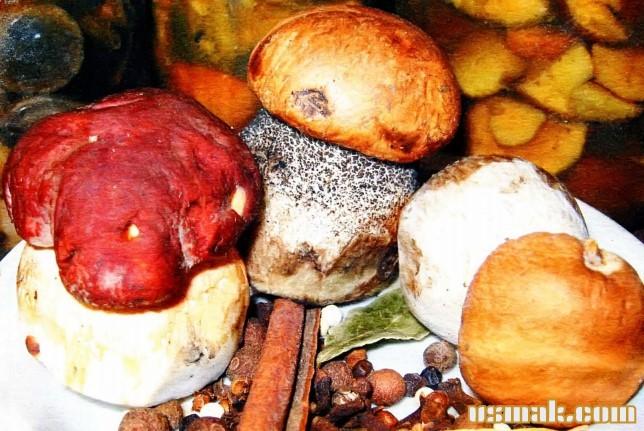 Рецепт Белые грибы маринованные