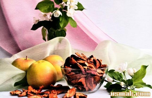 Рецепт Сушеные яблоки